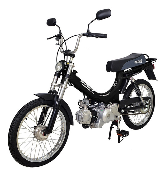 Bicicleta Motorizada Moby 4 Tempos Bikelete Preto