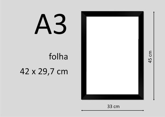 Moldura Poster 1 A3 30x42cm C/acrílico Oferta Temporária Só