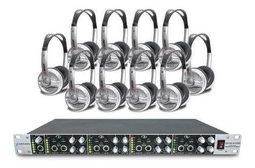 Amplificador De Som Arcano Ar-hae-412-pro + 10 Fones Live-12