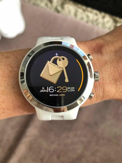 Relógio Michel Kors Model Mkt 5050 Branco Pouco Usado