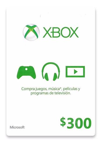 Imagen 1 de 1 de Xbox Live Dinero 300.00 Envio Inmediato!!