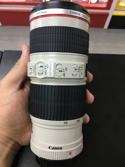 Lente Canon 70-200mm F/4 L Is Usm 12x Sem Juros