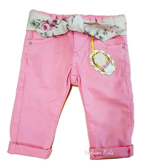 Kit 2 Calça Jeans E Colorida Bebê Menina Infantil
