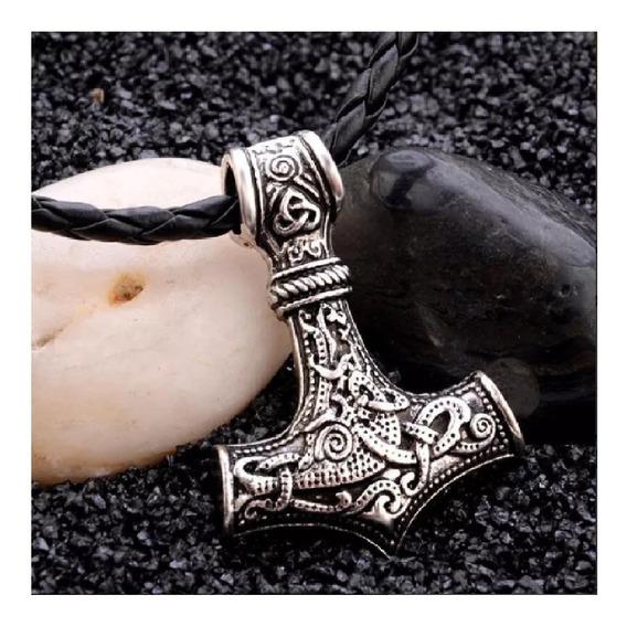 Collar Serie Vikings Ragnar Martillo Thor Nordico Unisex