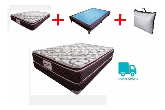Colchón Individual V. Benzi+almohada+base+envio Gratis