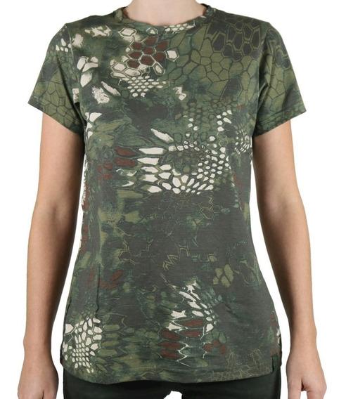 Camiseta Feminina Soldier Camuflada Mandrake Bélica