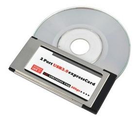 Express Card Expresscard Usb 3.0 2 Portas Adaptador 34mm