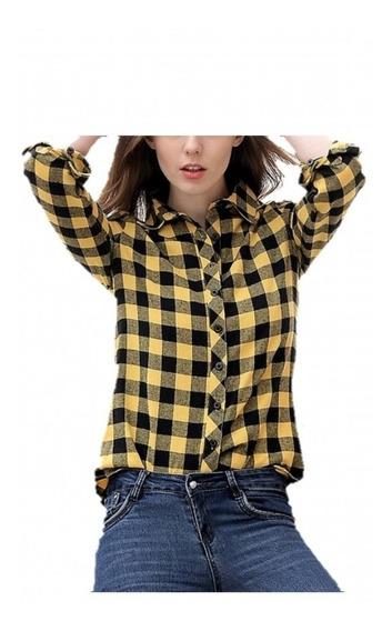 Camisas Entalladas Cuadros Mujer- Escocesas - Prima - 19