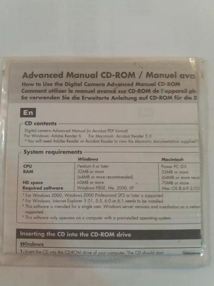 Cd De Instalação E Manual Câmera Olympus Fe 170 E X 760 Novo