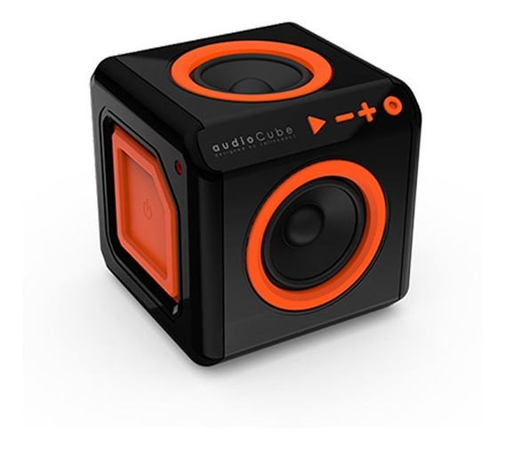 Caixa De Som Portátil Bluetooth ELG Audiocube Preta 15w Rms