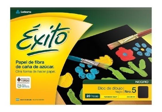 Bloc De Dibujo Exito Negras N5 20 Hojas Canson X5 Unidades