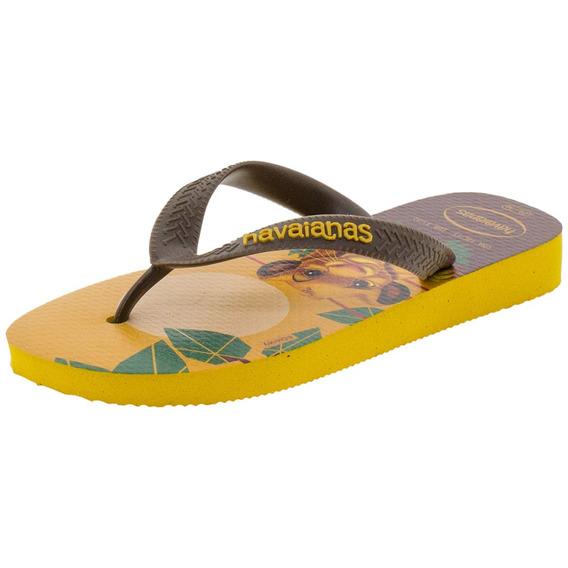 Chinelo Rei Leão Havaianas Kids - 4144490 Amarelo