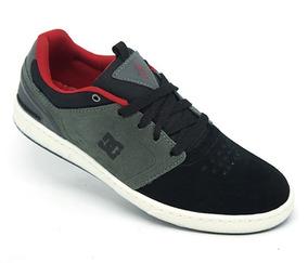 Tênis Dc Shoes Cole Signature Couro Preto E Cinza