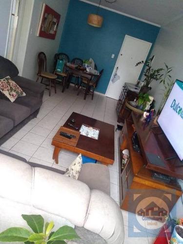 Apartamento Com 2 Dormitórios Para Alugar, 92 M² Por R$ 2.600,00/mês - Boqueirão - Santos/sp - Ap5847