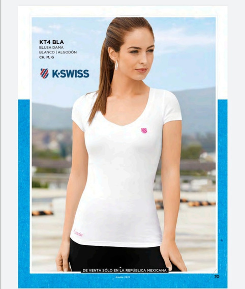 Blusa Dama Blanca Kswiss Original Terra Kt4bla Deporte Oi-19