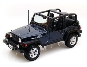 Miniatura Jeep Wrangler Rubicon Azul 1:18 Maisto