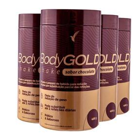 Combo Bodygold Shake Eleve Chocolate 400g 4 Unidades
