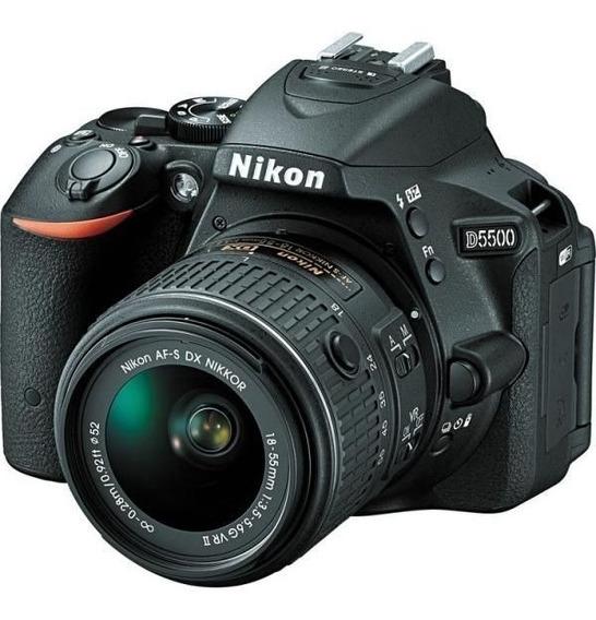 Câmera Nikon D5500 Com Lente Af-p Dx 18-55mm Vr Ii