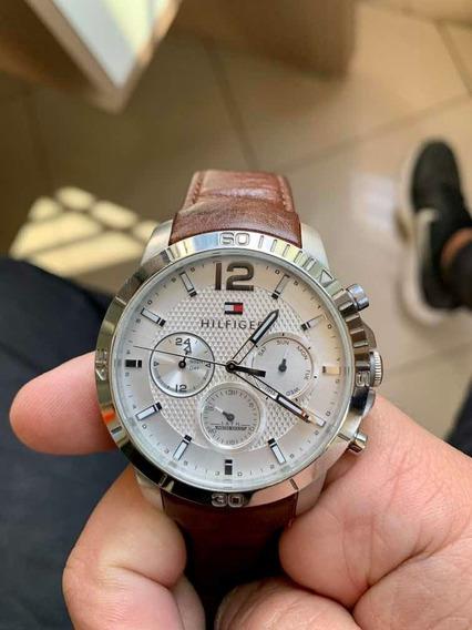 Relógio Tommy Hilfiger - Pulseira De Couro Com Certificado