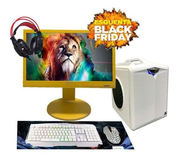 Pc Gamer Hector I3 R7 240 8gb Hd500gb Ssd160gb Black Friday