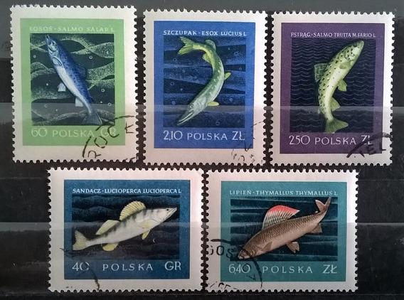 Polonia Peces, Serie Sc. 810-814 Año 1958 Usada L11049
