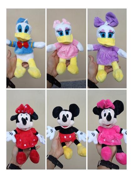 Pelucias Disney( Mickey/minnie Rosa/ Minnie Vermelha/pluto