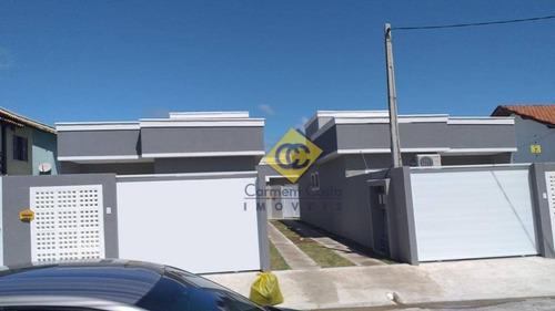 Ótima Casa Com 2 Dormitórios À Venda, 67 M² Por R$ 285.000 - Extensão Do Bosque - Rio Das Ostras/rj - Ca1922
