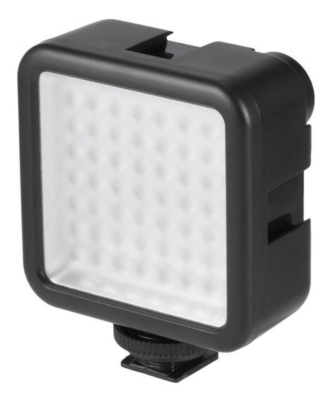 Led Iluminador 49 Leds Para Câmeras Nikon Canon Dslr Celular C/ Sapata E Rosca 1/4
