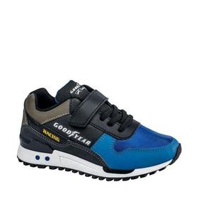 Tenis Casual Negro Con Azul Goodyear Racing 3794 Urb 162101