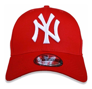 Boné Mlb New York Yankees Vermelho New Era Aba Curva S/m