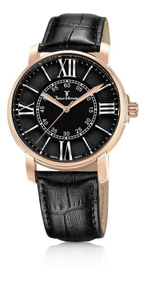 Relógio Pulso Jean Vernier Moderno Suíço Masculino Jv01091