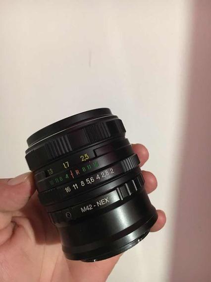 Lente Helios 44-6. 58mm Com Adaptador Para Sony E-mount