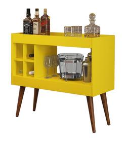 Aparador / Barzinho Para Sala Com Adega - Laguna - Amarelo