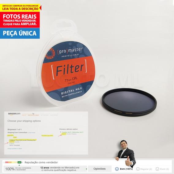 Filtro 77mm Polarizador Circular 12x S/juros + Frete Grátis