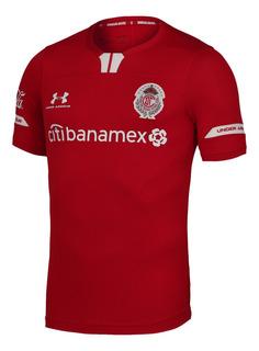 Jersey Under Armour Futbol Toluca Local Pro 19/20 Rojo