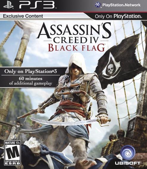 Jogo Assassins Creed Black Flag Ps3 Playstation 3 100% Dubld