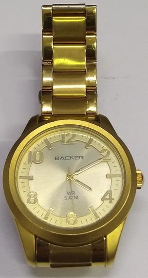 Relógio Backer Feminino 3192145m Dourado Lindo De Vitrine