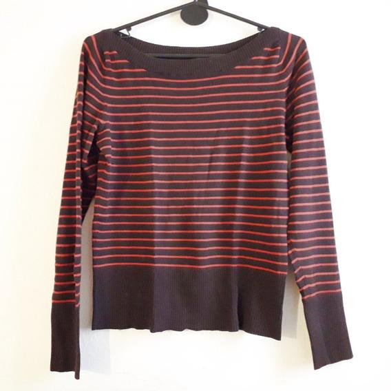 Sweater Finito Rayado Marron Divided H&m
