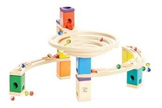 Quadrilla Wooden Marble Run Construction - The Roundabout -