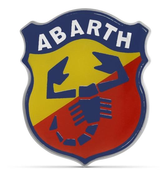 Adesivo Auto Relevo Fiat Stilo Escudo Logo Emblema Abarth