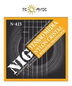 Encordoamento Para Violão Nylon 6 Cordas Nig 028/043 N415