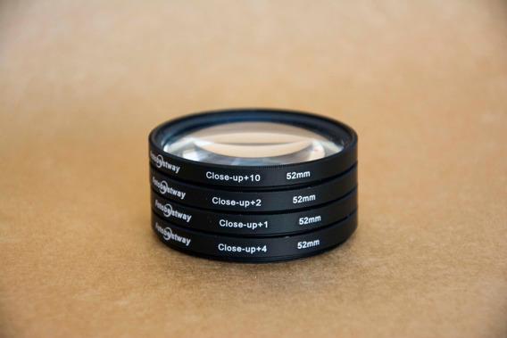 Conjunto De Filtros Close Up Bestway 52mm Macro 1,2,4,10x