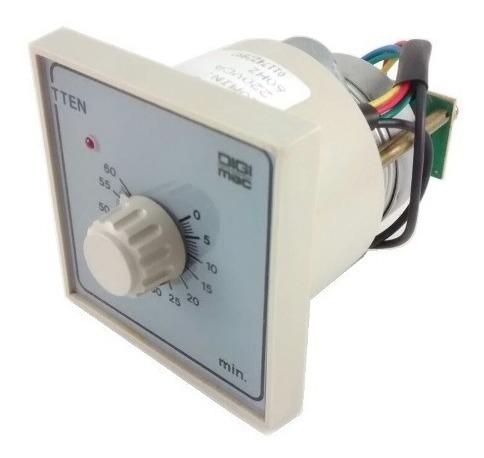 Rele Temporizador Eletromecânico Com Retorno Manual Digimec Tten-1 60min 220vca
