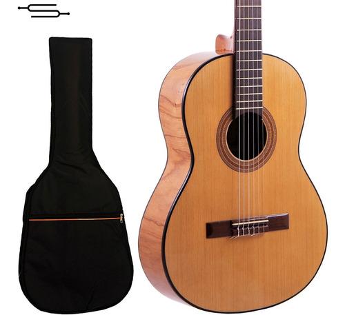 Imagen 1 de 5 de Guitarra Criolla Gracia M7  Estudio Superior Nogal + Funda