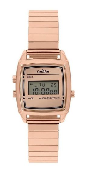 Relógio Condor Feminino Vintage Digital Cojh512ag/4j Rose