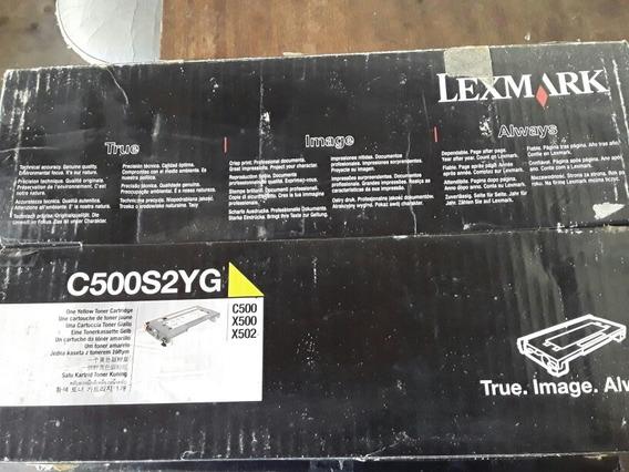 Toner Original Lexmark C500s2yg Amarelo