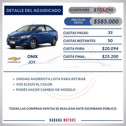 Imagen 1 de 8 de Chevrolet Onix Joy Adjudicado $585.000 Y Cuotas