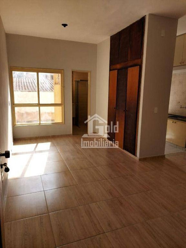 Imagem 1 de 9 de Kitnet Com 1 Dormitório Para Alugar, 32 M² Por R$ 580,00/mês - Centro - Ribeirão Preto/sp - Kn0040