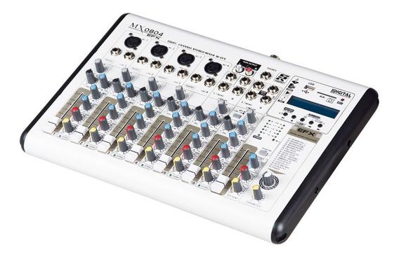 Mesa De Som Staner, Modelo Mx 0804 Bluetooth