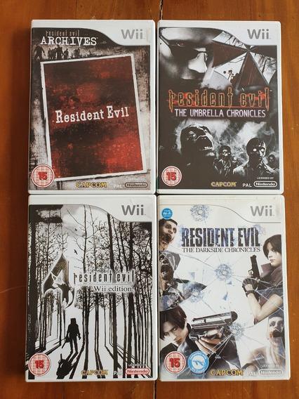 Coleção 5 Resident Evil Wii Europeu Mídia Física Original